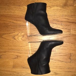 Maison Martin Margiela x H&M leather booties clear